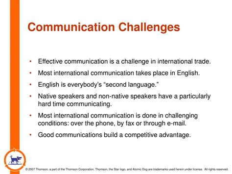 communication challenges ppt using international logistics for competitive