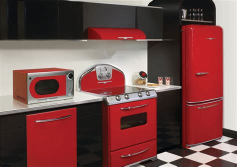 vintage style kitchen appliances retro refrigerators for chic kitchens house garden