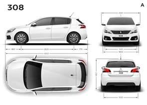 Peugeot Dimensions Peugeot 308 Dimensions Ext 233 Rieures Et Int 233 Rieures