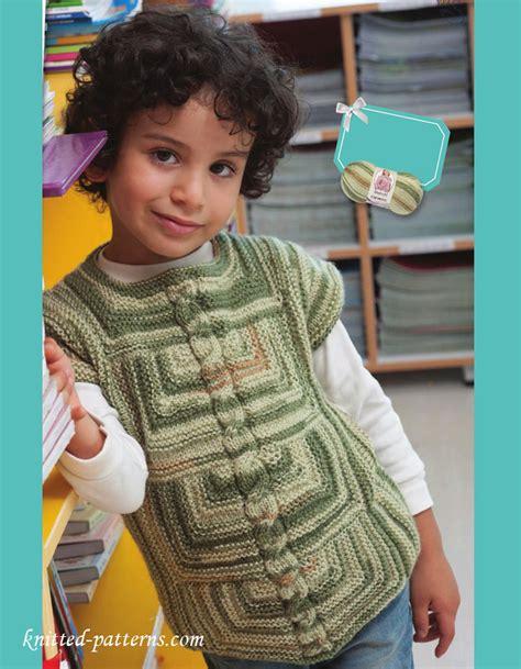 knitting pattern for boys vest boy s vest knitting pattern free