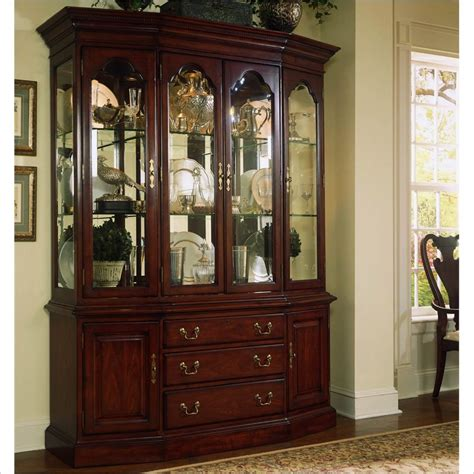 Cherry Hutch Cabinet american drew cherry grove canted china cabinet
