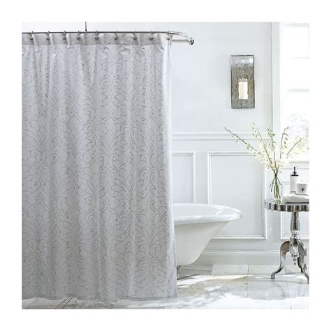 metallic silver shower curtain pin by the company store on bathroom refresh pinterest