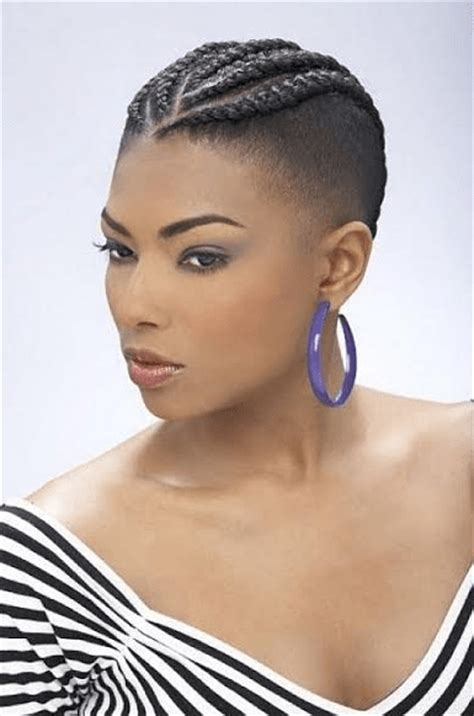 cornrow braids with shaved sides back braids for short hair bob braided hairstyles you ll love