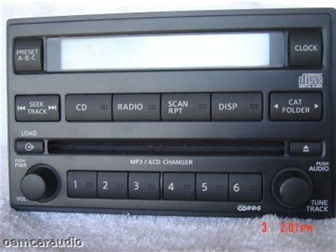 nissan pathfinder radio nissan pathfinder xterra frontier radio stereo 6 disc