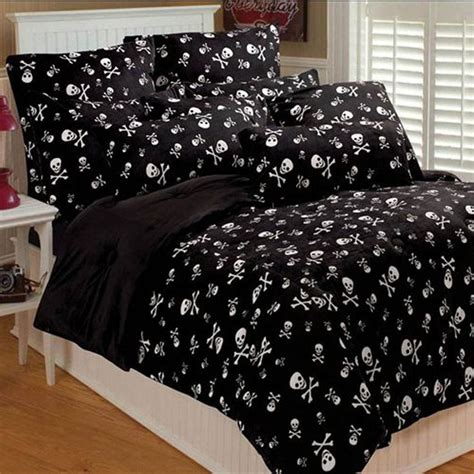 skull bedroom curtains this bedding is perfect haunted house teen goth