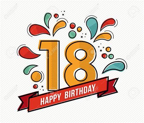 clipart compleanno 18 anni