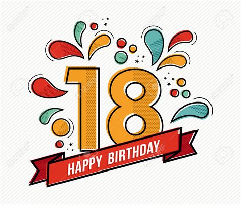 compleanno clipart clipart compleanno 18 anni