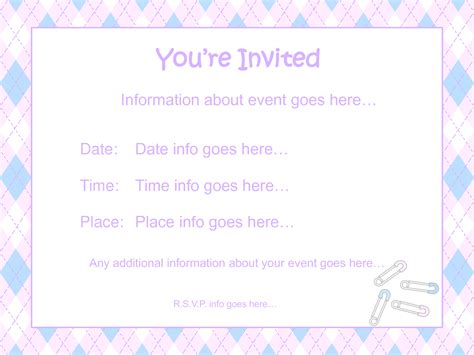 baby shower invitations free downloadable templates free printable template for baby shower invitations