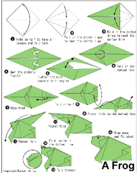 membuat origami katak copasok cara membuat origami binatang berbentuk kodok katak