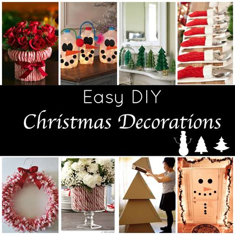 easy home made christmas decorations cute and easy diy holiday decorations for a festive home