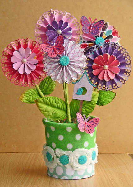 How To Make Paper Flowers For Scrapbooking - crafts with scrapbook paper craftshady craftshady