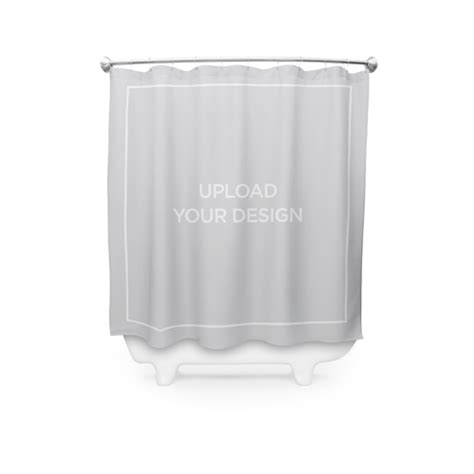design your own shower curtain upload your own design custom shower curtains shutterfly