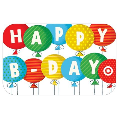 Birthday Gift Cards - happy birthday balloons gift card target
