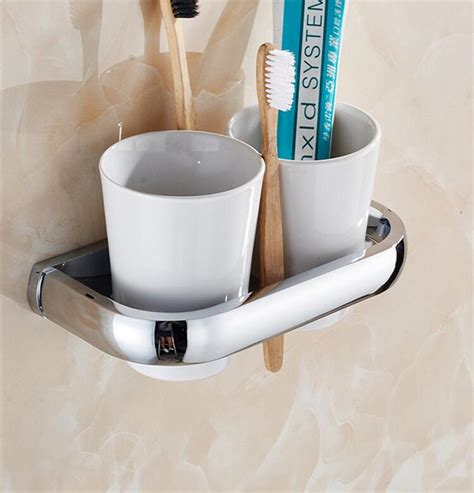 bathroom toothbrush holder modern contemporary chrome