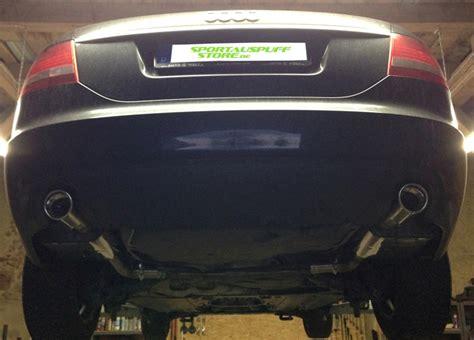 Audi A6 4f Auspuffblende by Anbau Vom Fox Sportauspuff Audi A6 4f 2 4l Benziner