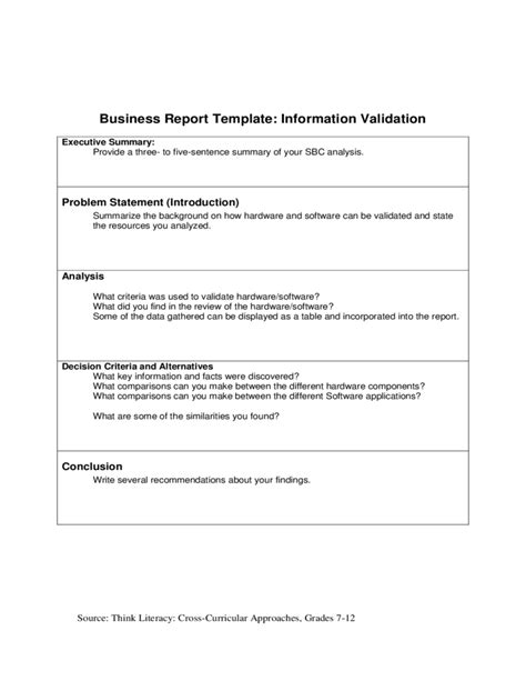 report guidelines template business report template with guidelines free