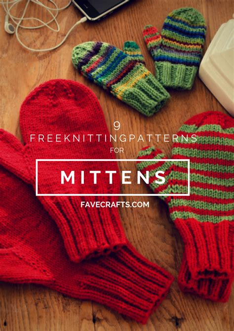 6 Free Knitting Patterns For Mittens Favecrafts