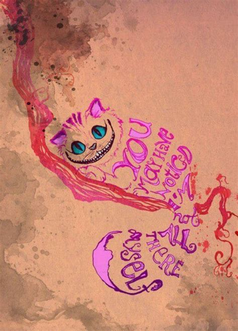 chesire cat tattoo in cheshire cat quote in