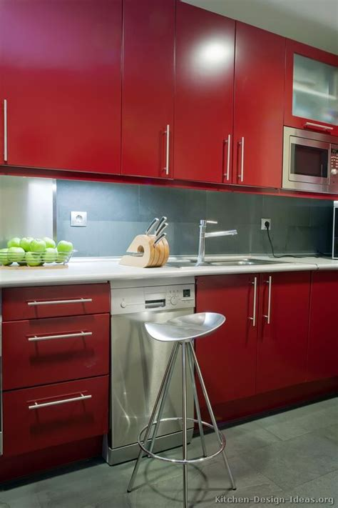 pictures of red kitchen cabinets red kitchen cabinets casual cottage