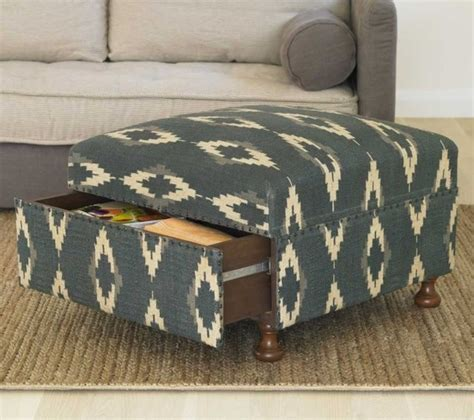 ikat ottoman coffee table ikat storage ottoman mediterranean footstools and
