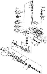 mercury outboard parts drawing 2 3 cylinder p n 1 to 18