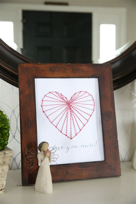 heart string art decor  idea room