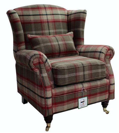tartan wingback chair owen wing chair o winged back 18 wingback tartan recliner