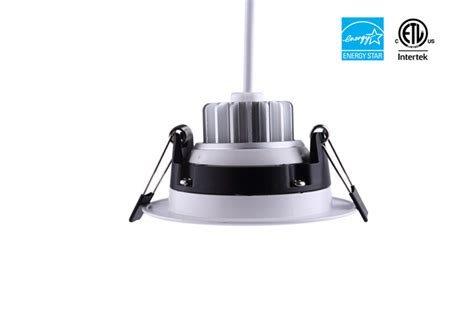 junction box compatible led recessed lights 3inch 8w 680lm led recessed gimbal light with junction box