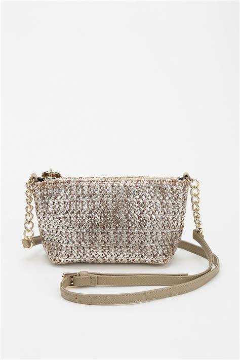 Crossbody Straw Bag lyst deux metallic straw crossbody bag in metallic