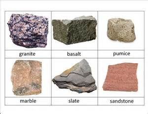 types of rocks rocks and minerals classified cards