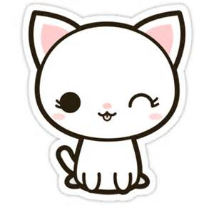 Sticker Decor For Walls quot kawaii white cat quot stickers by peppermintpopuk redbubble