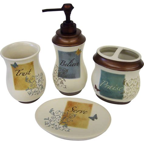 butterfly blessings 4pc bath accessory set walmart