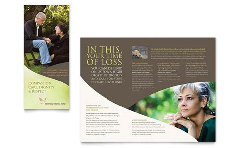 memorial funeral program brochure template design