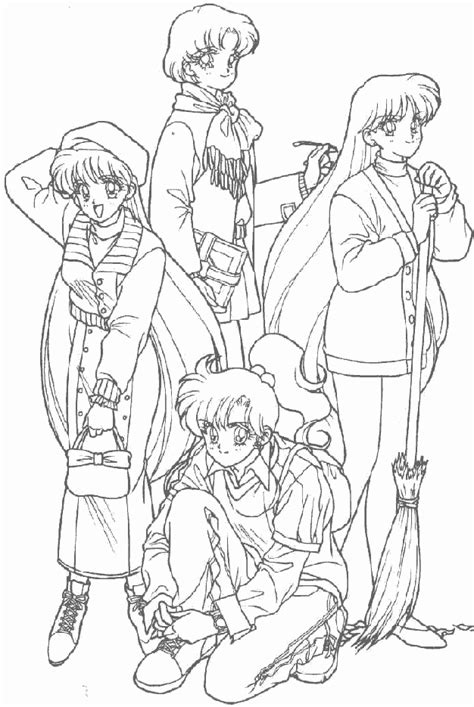 free coloring pages of all sailor scouts
