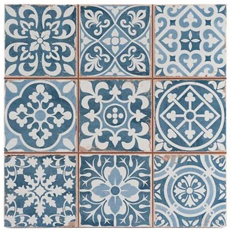 victorian pattern vinyl sample victorian tangier blue decor wall floor tile