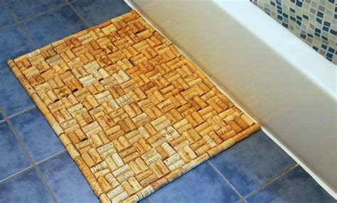 cork bath mats bathrooms diy wine cork bath mat tuja wellness