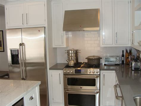 Ordering Kitchen Cabinets Online by Custom Shaker White Inset Maple Cabinetry Concrete Gray