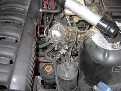 where exactly is the power steering reservoir bmw forum