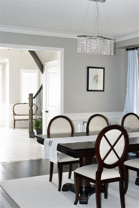 dining room wainscoting benjamin revere pewter paint color for foyer stairs