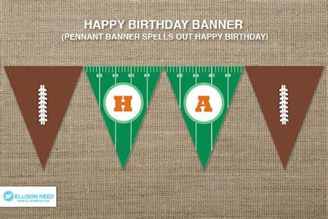printable birthday soccer banner football birthday printable party football birthday banner