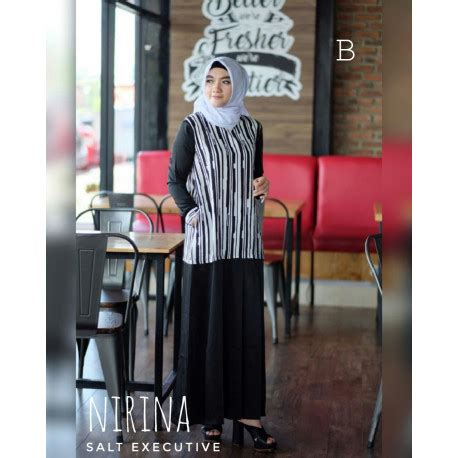 Nirina Dress gamis busana muslim terbaru baju muslim salt executive