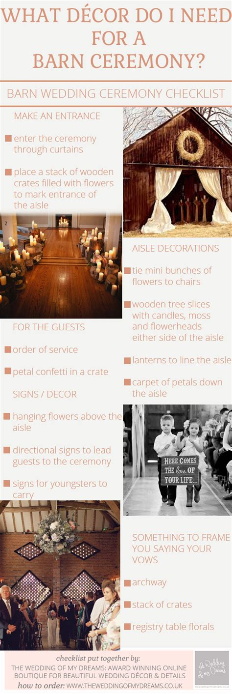 when do i need to send my wedding invitations what decorations do i need for a barn wedding ceremony checklist