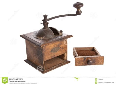 Old Manual Coffee Grinder Machine Wooden Made Stock Image   Image: 8759183