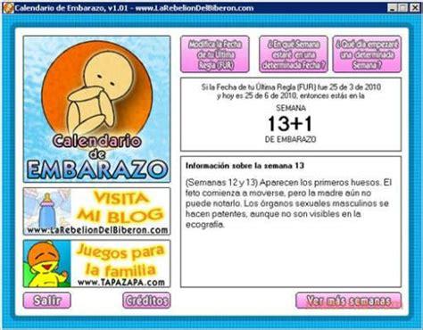Calendario De Embarazo 2011 Descargar Calendario De Embarazo Para Tener