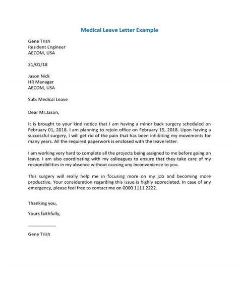 medical leave letter templates