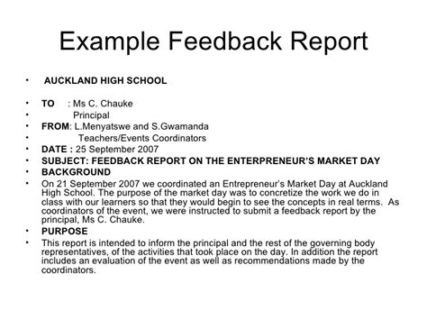 feedback report template investigative reports exles images