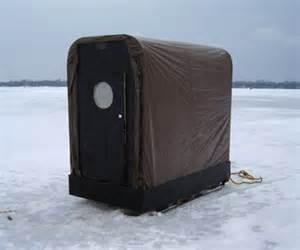 Details about ice fishing shanty plans w gear sled portable ice hut
