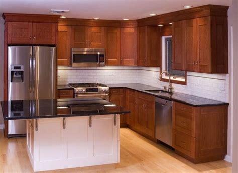 painting cherry wood cabinets white kitchen white metal double door refrigerator kitchen