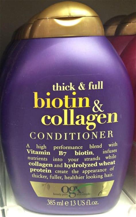 organix ogx thick full biotin collagen shoo conditioner ogx conditioner haar 246 le im inci test top oder flop