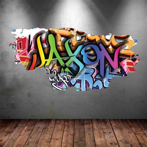 personalised graffiti  wall art sticker decal mural